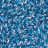 Knitted Doodle Seamless Colorful Ornamental  Pattern Stock Images