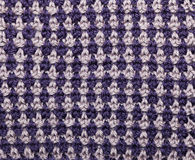 Knitted Double-Colored Pattern Stock Photography