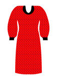 Knitted dress for women red and black Stock Photography