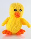 Knitted duckling Royalty Free Stock Photography