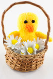 Knitted duckling Stock Photos
