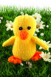 Knitted duckling Royalty Free Stock Photo