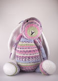 Knitted Easter Bunny Toy Stock Images