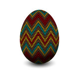 Knitted egg Stock Image
