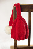 Knitted elf hat Royalty Free Stock Images