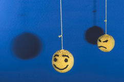 Knitted emoticons Stock Photos
