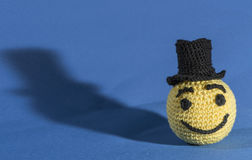 Knitted emoticons Royalty Free Stock Photography