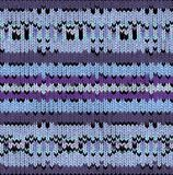Knitted Ethnic pattern background with geometrically elements Royalty Free Stock Images