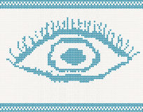 Knitted eye Stock Photos