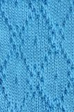 Knitted fabric. Macro of a woolen texture Stock Photography