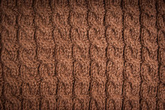 Knitted fabric brown Royalty Free Stock Photo