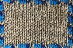 Knitted fabric close-up Stock Photography