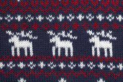 Knitted fabric cloth ornament with moose Royalty Free Stock Photos