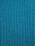 Knitted fabric in electric turquois Royalty Free Stock Photo