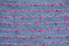 Knitted fabric gray background close up Stock Photo