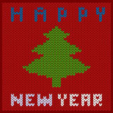 Knitted fabric new year Stock Photos