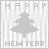Knitted fabric new year Royalty Free Stock Photo