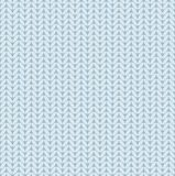 Knitted fabric, seamless background, imitation, vector, light blue. Royalty Free Stock Photo