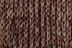 Brown beige Knitted texture stock images