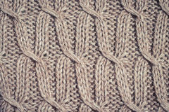Knitted fabric wool texture close up Stock Photography