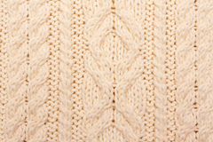 Knitted fabrics, pattern Royalty Free Stock Images
