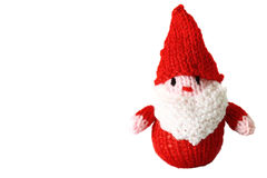 Knitted Father Christmas toy B Royalty Free Stock Image