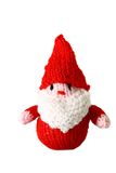 Knitted Father Christmas toy A Stock Photo