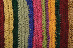Knitted fine wool garment colorful stripes background natural Stock Photo