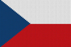 Knitted flag of Czech Republic Stock Images