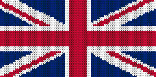 Knitted flag of Great Britain. United Kindom Stock Photo