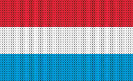 Knitted flag of Luxembourg Royalty Free Stock Photos