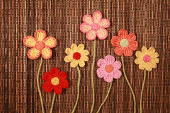 Knitted flower Stock Photos