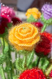 Knitted flower Royalty Free Stock Photos