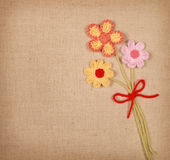 Knitted flowers Royalty Free Stock Photos