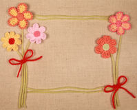 Knitted flowers Royalty Free Stock Photo