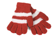 Knitted gloves Stock Photos