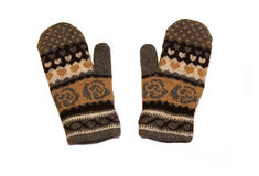 Knitted gloves Royalty Free Stock Images