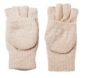 Knitted gloves with the cut-off ends Stock Photography