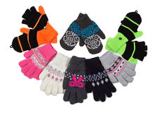 Knitted gloves and gauntlets Royalty Free Stock Photography