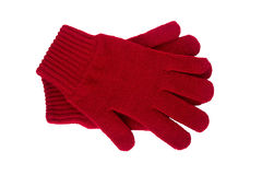 Knitted gloves Stock Images