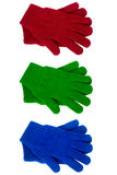 Knitted gloves various color Royalty Free Stock Images