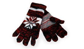 Knitted gloves Royalty Free Stock Photos