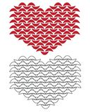 Knitted graphic heart clipart Stock Images