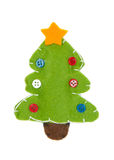 Knitted green Christmas tree Royalty Free Stock Photos