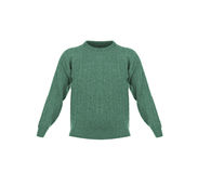 Knitted green jacket for the baby Royalty Free Stock Images