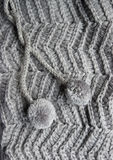 Knitted grey cloth Stock Photography
