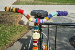 Knitted handle bar Royalty Free Stock Photography