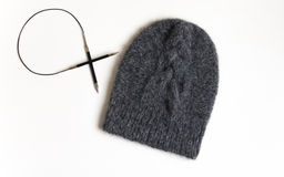 A knitted hat stock photos