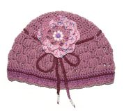 Knitted hat handmade Stock Image