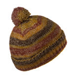 Knitted hat with pompom isolated on white background Royalty Free Stock Photography